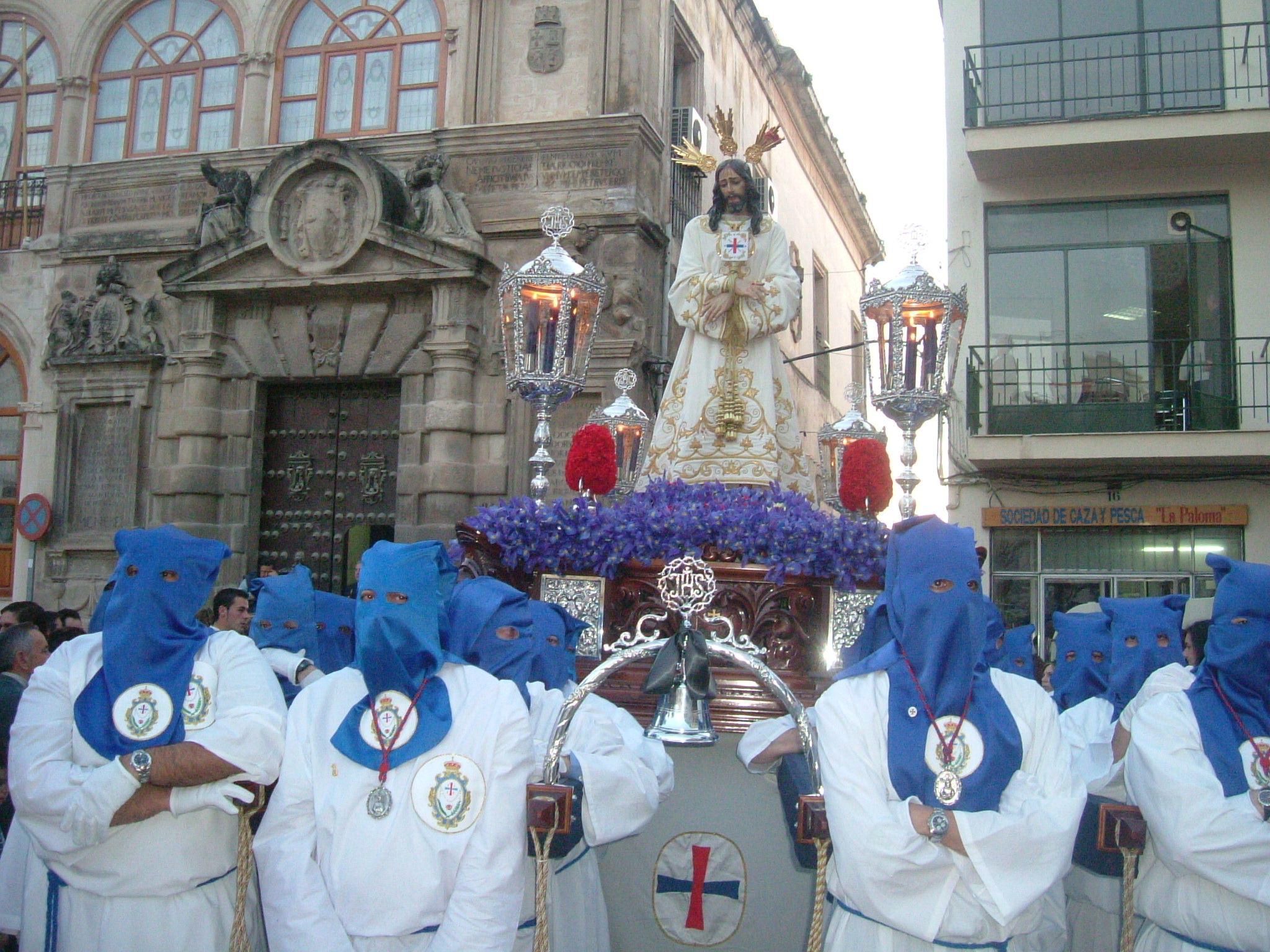 imagen del Jesus Cautivo en la plaza de la Constitución