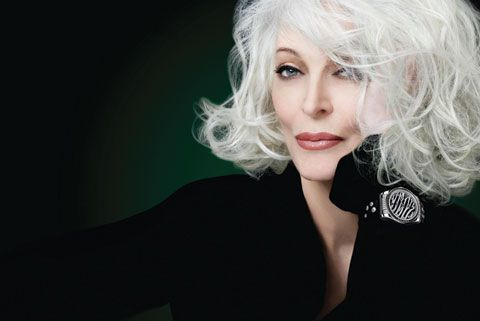 Want to keep your grey locks gleaming and silver like 80 year old Carmen Dell? Use Shimmer Lights like I do...keeps those grey locks gleaming. Yeah yeah I know those folks in corporate got issues but mine will not be searching for a bottle of dye every damn month to dye the new growth.