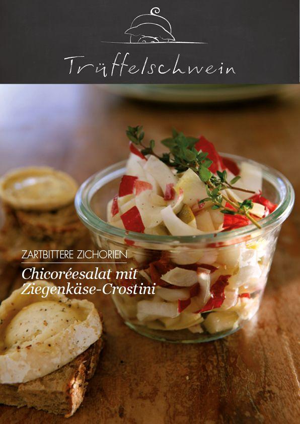 Chicoréesalat mit Ziegenkäse-Crostini #salad
