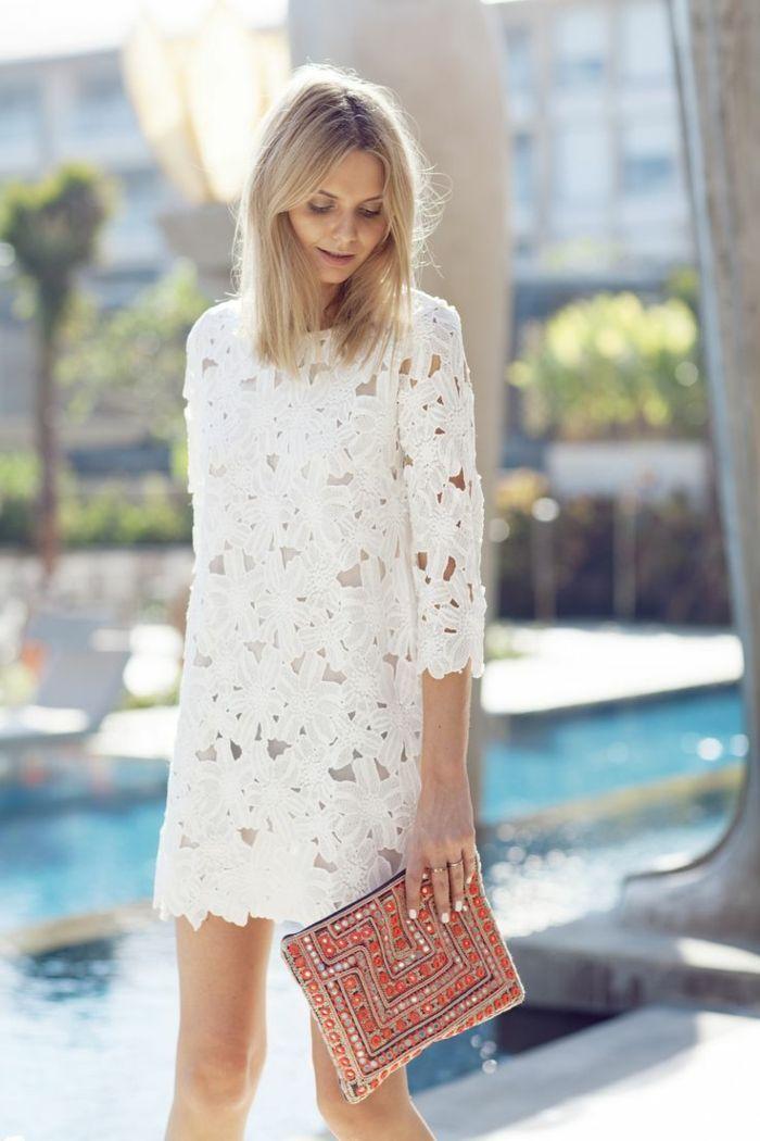 Robe blanche la mode est a vous