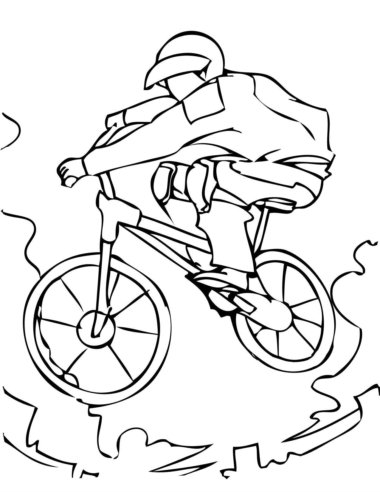 Play Bike In Summer Coloring Pages For Kids Bca Printable Summer Sports Coloring Pages For K Sports Coloring Pages Coloring Pictures For Kids Coloring Pages