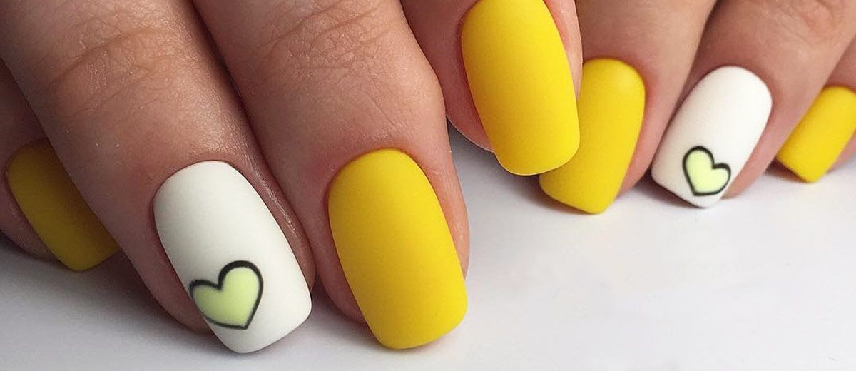 21 Stylish And Fun Designs For Short Classy Nails That You Will Love Yellow Nails Design Yellow Nail Art Yellow Nails