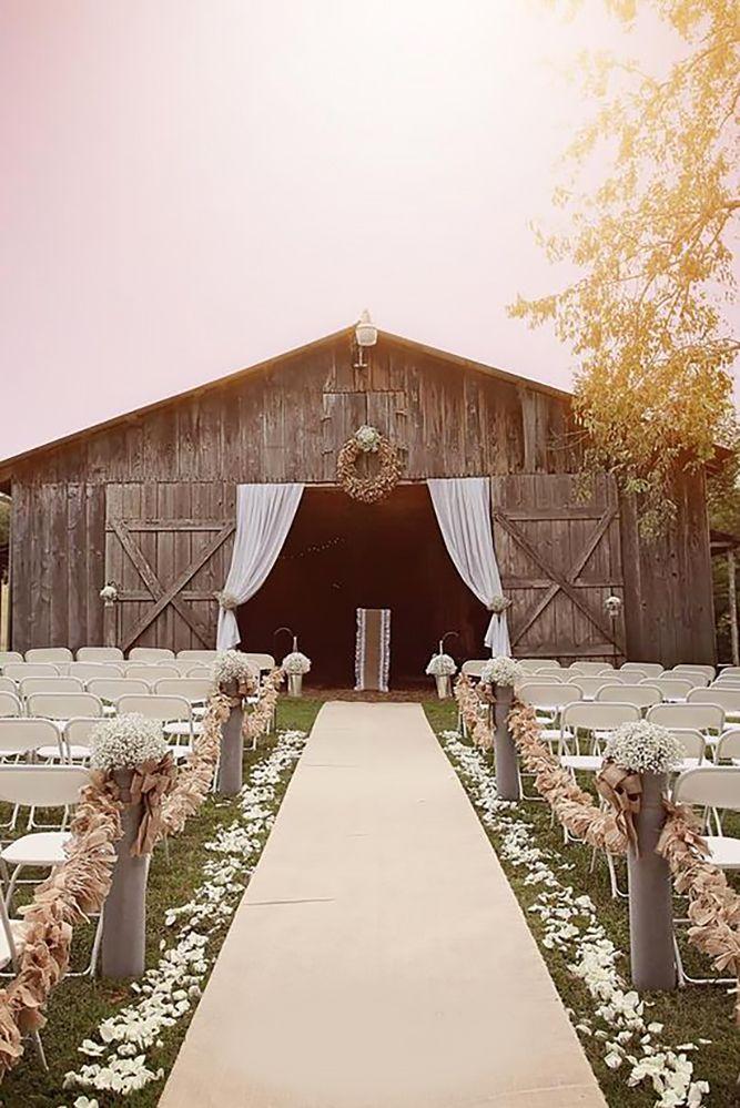 45 Romantic Barn Wedding Decorations Wedding Ideas Pinterest