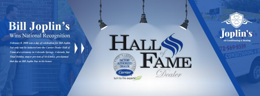 On This Day 10 Years Ago Not Only Was Bill Joplin Voted Into The Carrier Dealer Hall Of Fame But Former Mckinney Mayor T Joplin Happy Anniversary Recognition