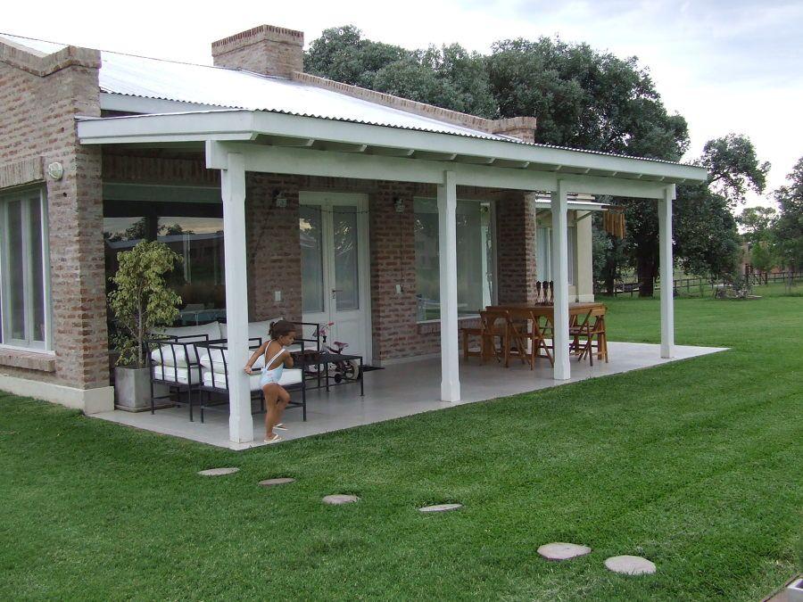 Casas de campo con galerias buscar con google rustico - Jardines de casas pequenas ...