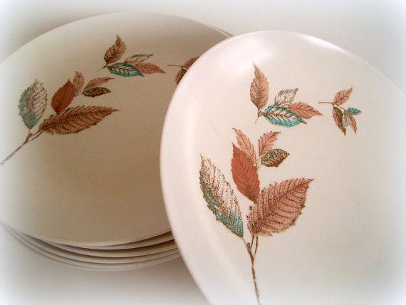 Vintage Mid Century Mar-Crest Melmac Dinner Plates Melamine Kitchen & Vintage Mid Century Mar-Crest Melmac Dinner Plates Melamine Kitchen ...