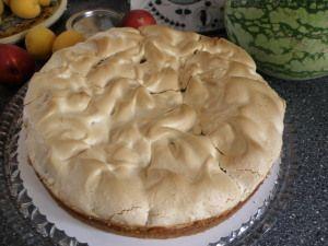 Rhubarb Baiser Cake