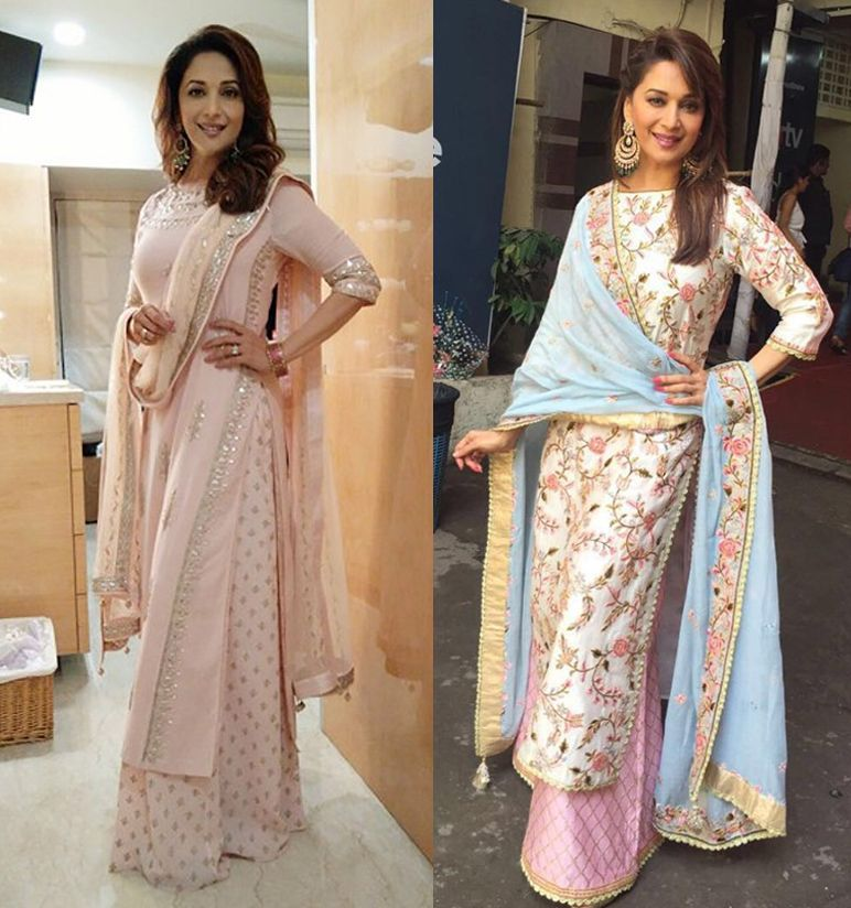 Madhuri Dixit Nene In Palazzo Pants Stylish Dress Designs Indian Designer Outfits Dress Indian Style