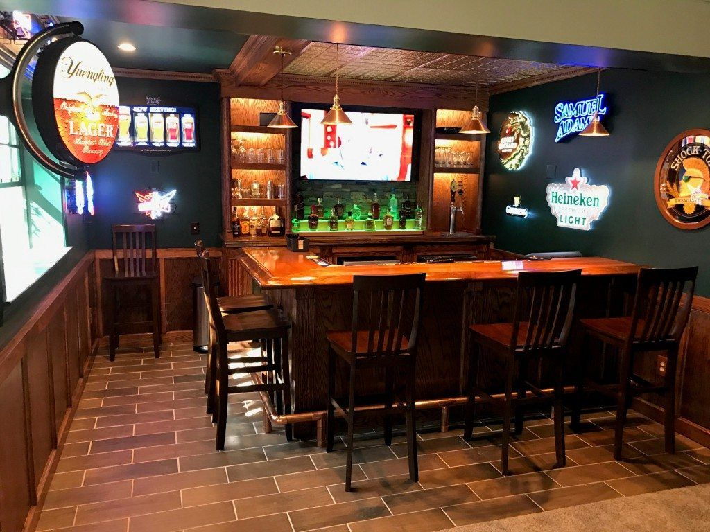 DIY Home Bars | Fluted columns, Baseboard and Bar