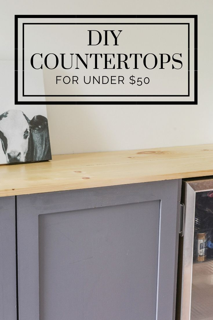 DIY Wood Countertops for Under $50 - Modern Farmhouse Kitchen