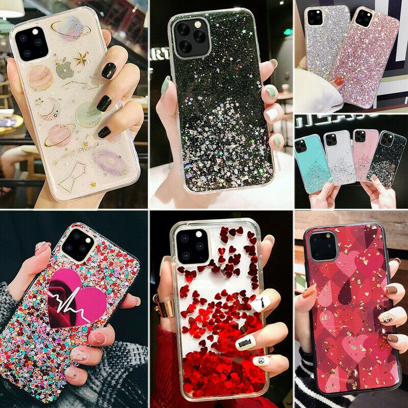 Details About For Iphone 11 Pro Max Xs X 6 7 8 Bling Glitter Love