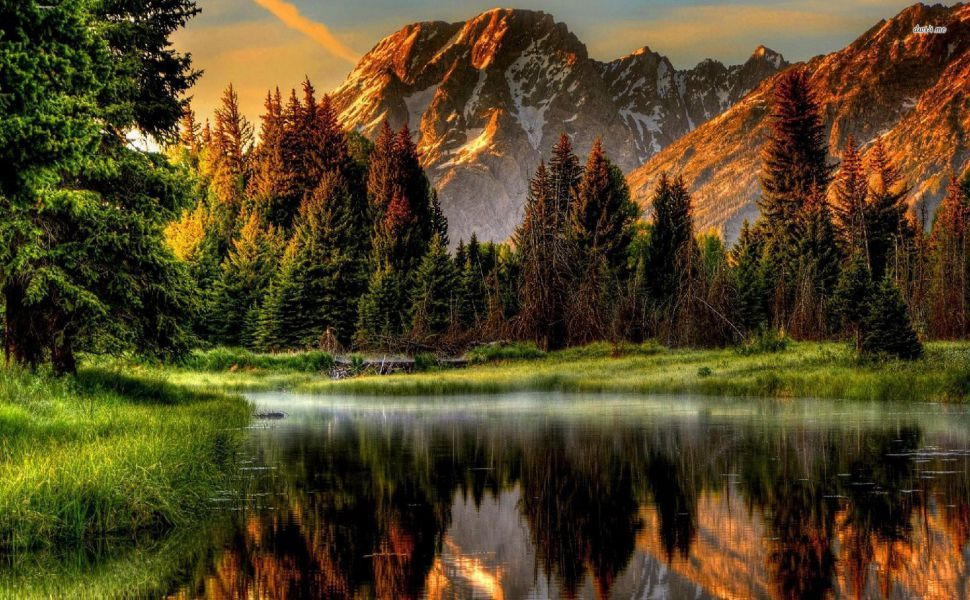 Que Mountain River Hd Wallpaper