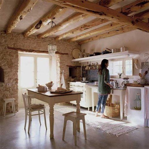 Interiores de casas rústicas #cocinasrusticasabiertas