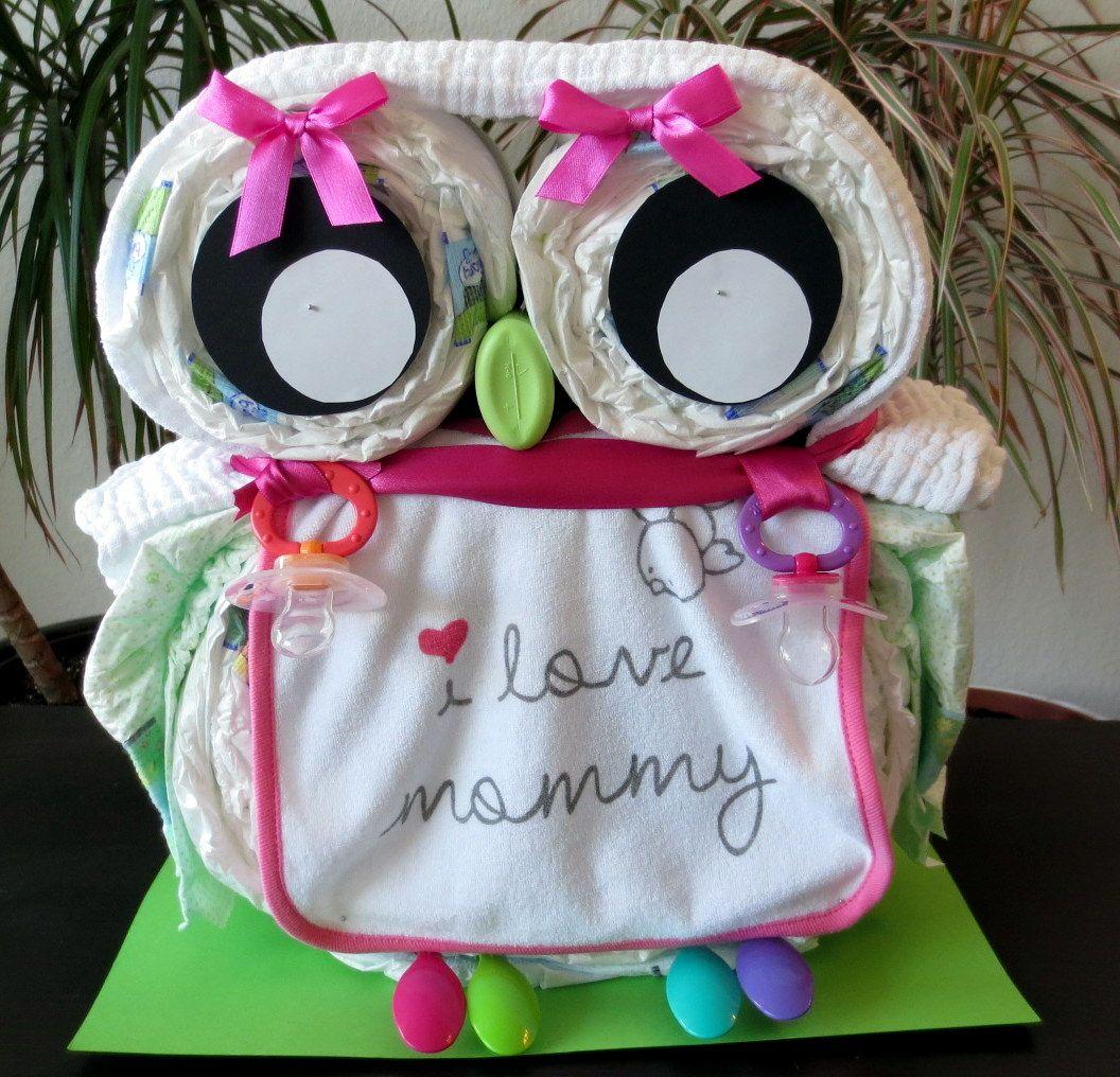 windeleule als alternative zur windeltorte diapercake eule babyparty geschenke zur geburt. Black Bedroom Furniture Sets. Home Design Ideas
