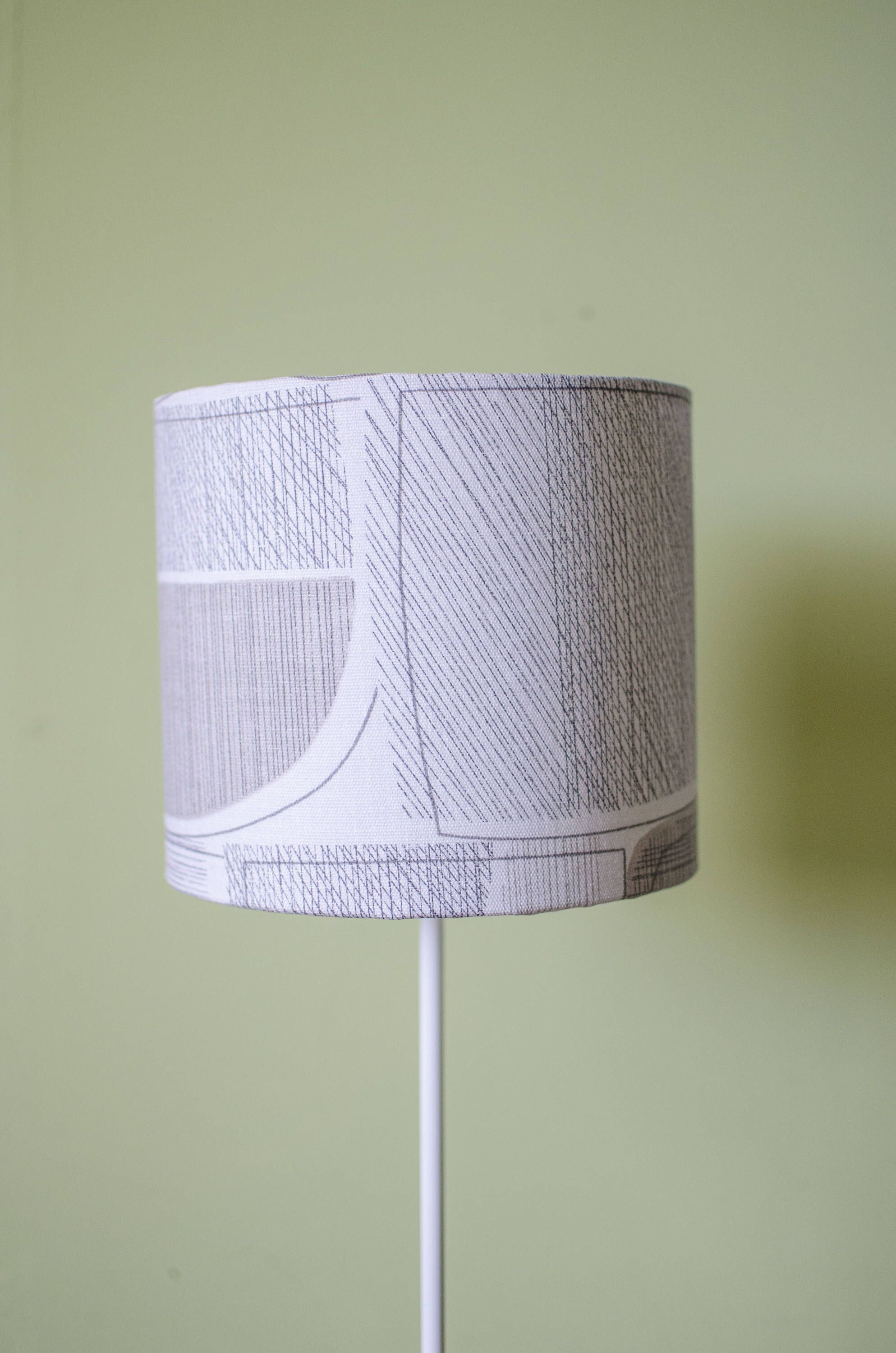 Grey Lampshade Simple Decor Modern Lamp Shade Contemporary Table Drum Floor Ceiling By