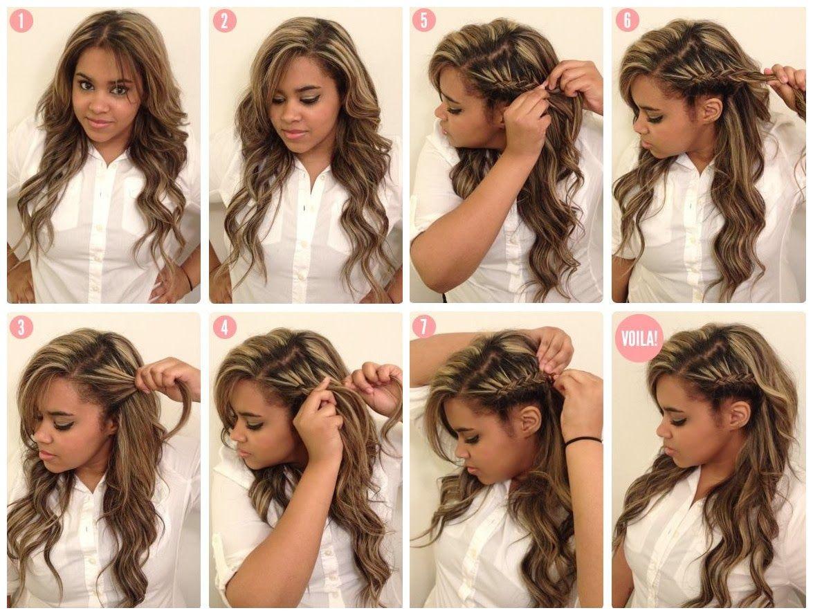 Extrêmement coiffure-facile-cheveux-long- | Coiffure | Pinterest | Coiffure  GT95