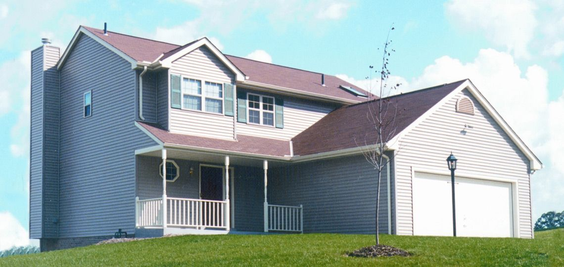 4 bedroom house plan: dunkirk | 84 lumber. this spacious two-story