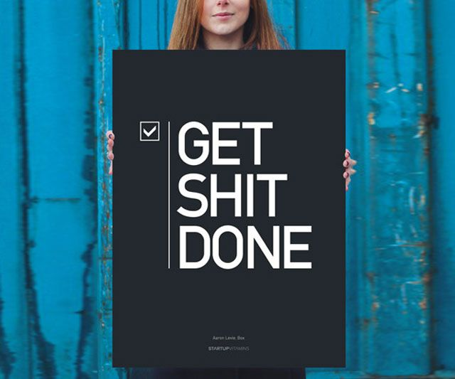office inspirational posters. Get Sh*t Done Poster | DudeIWantThat.com Office Inspirational Posters
