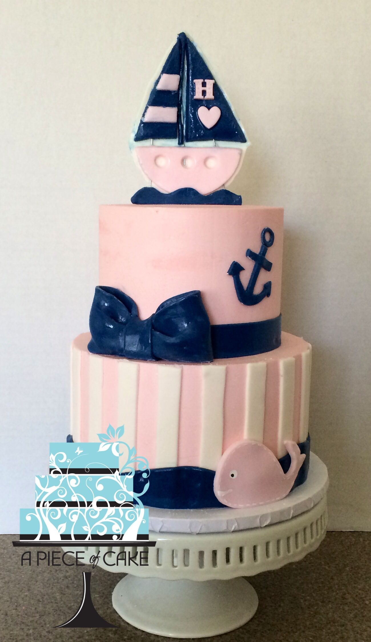Nautical Baby Shower Cakes ce Upon a Party Pinterest