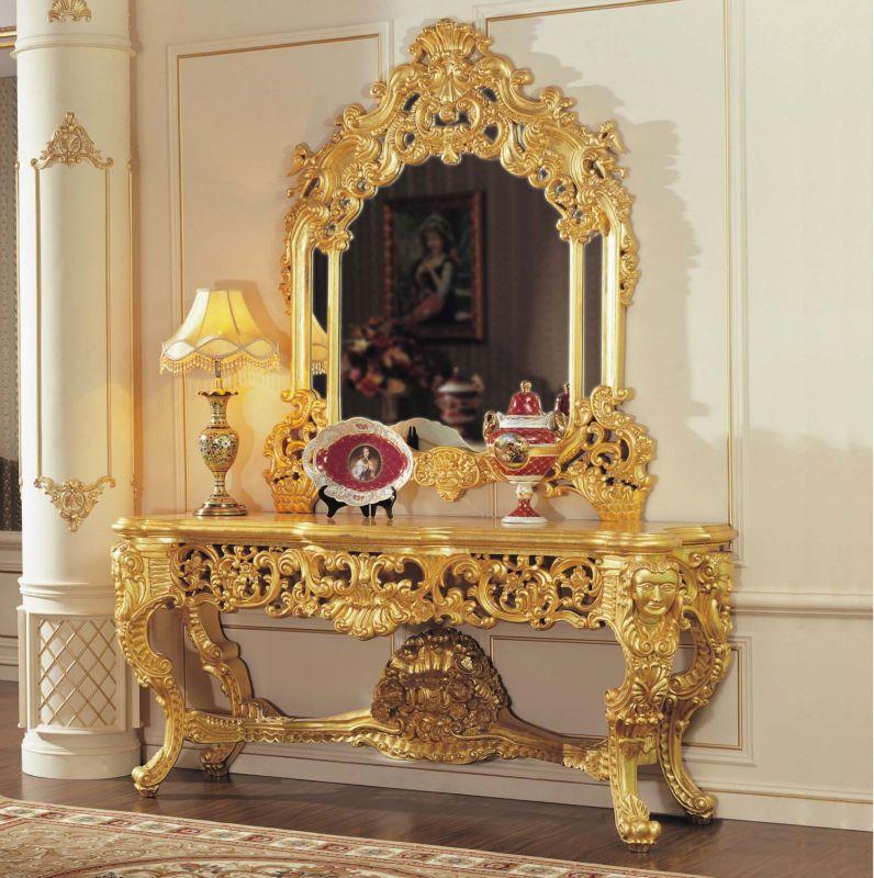 Muebles Clsicos Lmina De Oro Barroco Agrietamiento Consola Pintura