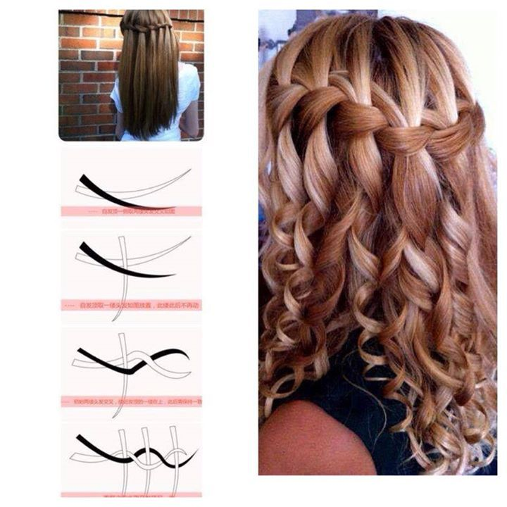 Curled Waterfall Braid No Directions To This Pic So I Added A Link