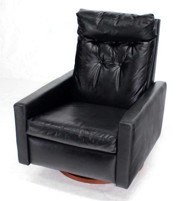 Cheap Nice Furniture For Sale: Milo Baughman; Swivel Recliner For Thayer Coggin, 1960s