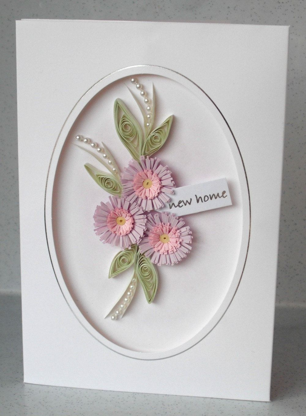 New home card, handmade, quilled, quilling | Quilling | Pinterest ...