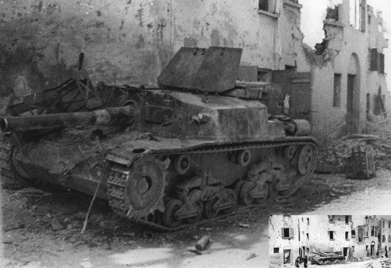 17 dicembre1944, nei pressi di Faenza. Forse della 278 o della 305 Divisione di fanteria che combattono assieme alla 26 Pz.Div.