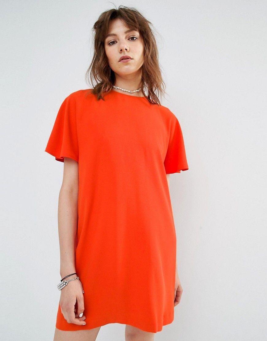 Back Orange Opening Shift It Dress Buy Now With By Mango FfHwnqUa