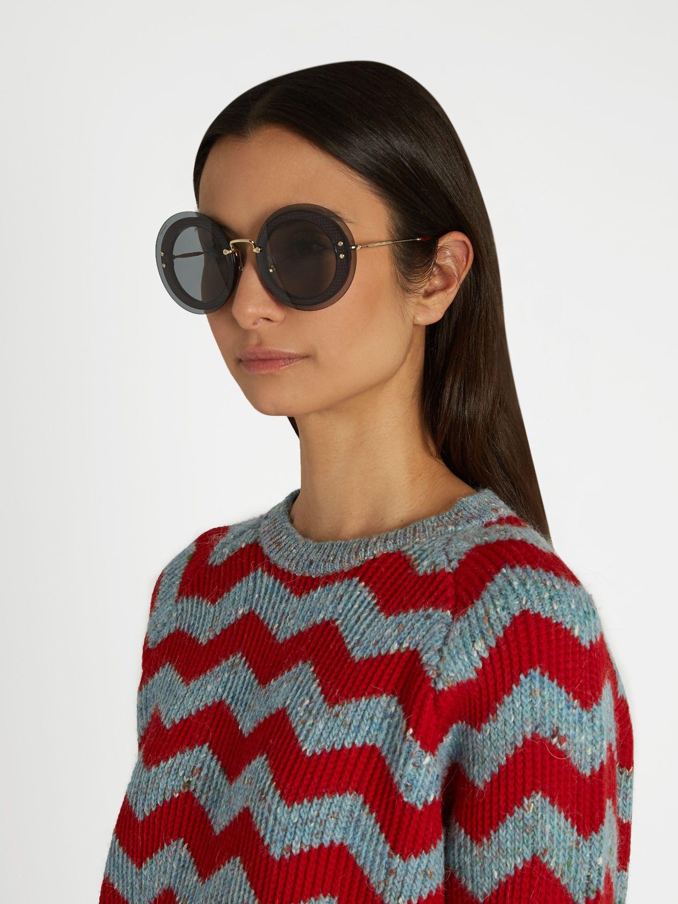 a84549c57c54 Reveal round-frame sunglasses
