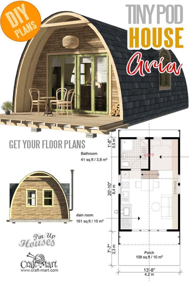 #Baukosten #house plans #kleine #mit #niedlichste #Pläne #und #winzige Kleine und winzige Wohnpläne mit Baukosten - Pod House Plans Aria #tinyhouseplans #tinyhome
