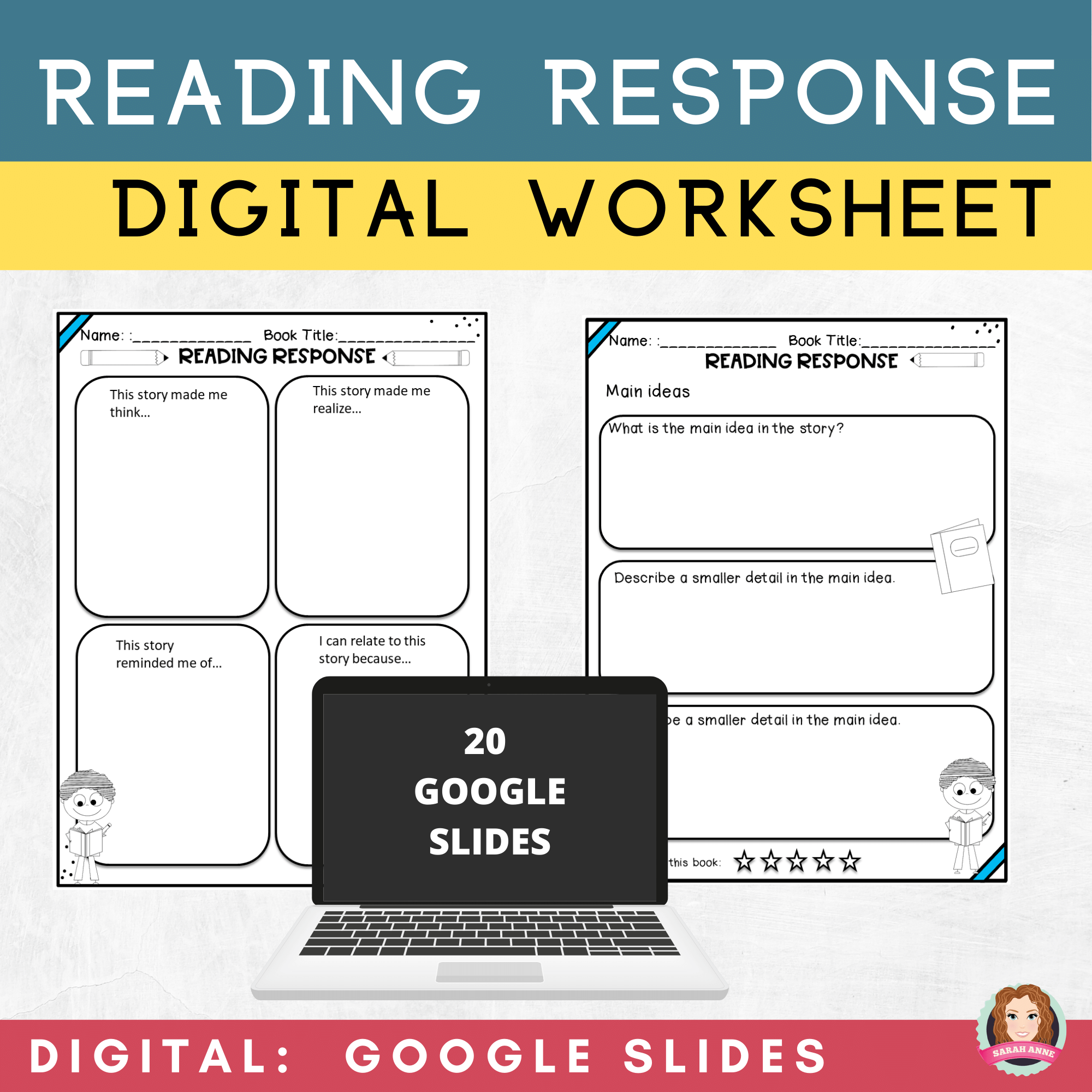 Reading Response Worksheets   Google Apps   Distance Learning   Reading  response worksheets [ 2000 x 2000 Pixel ]