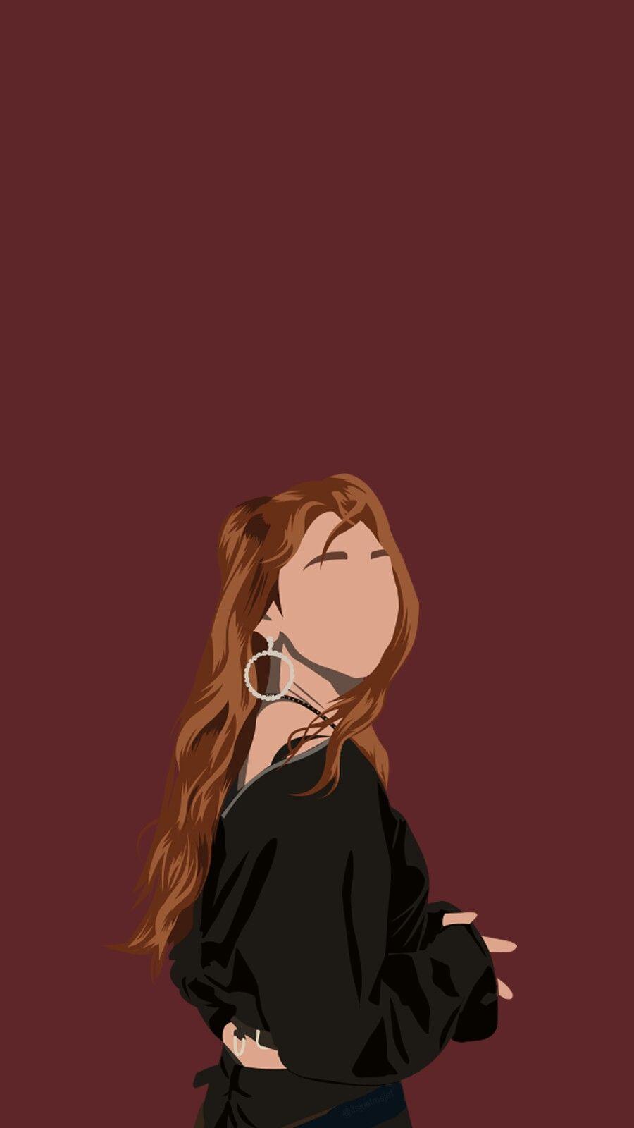 Kang Mina Dengan Gambar Ilustrasi Karakter Gambar Ilustrator