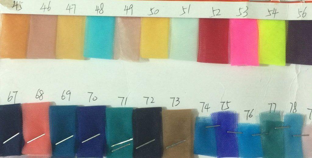 Custom Claire Soft Tulle Skirt Midi Colour Chart Tulle Skirts