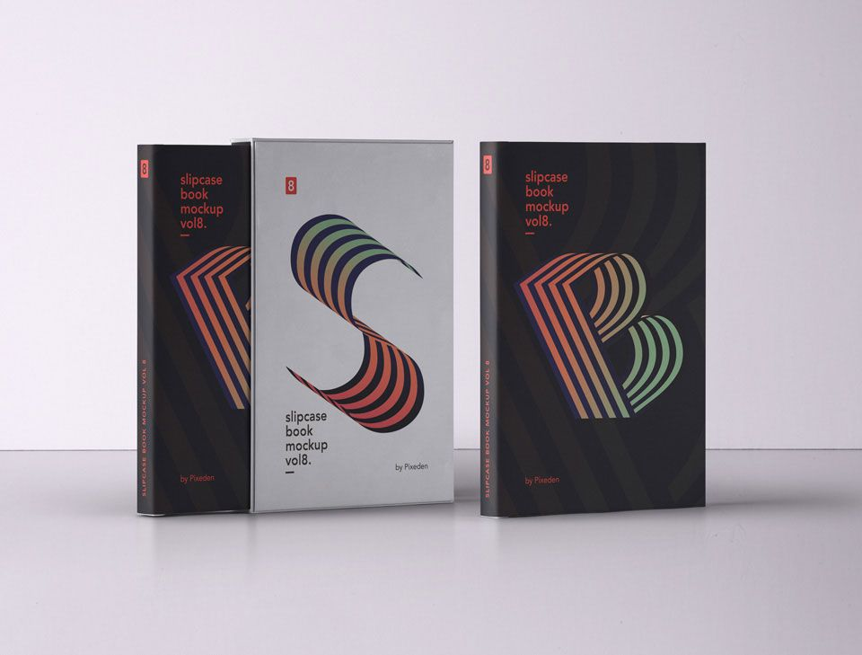 Download Free Slipcase Book Mockup Photoshop Mockup Free Photoshop Book Book Spine Design PSD Mockup Templates