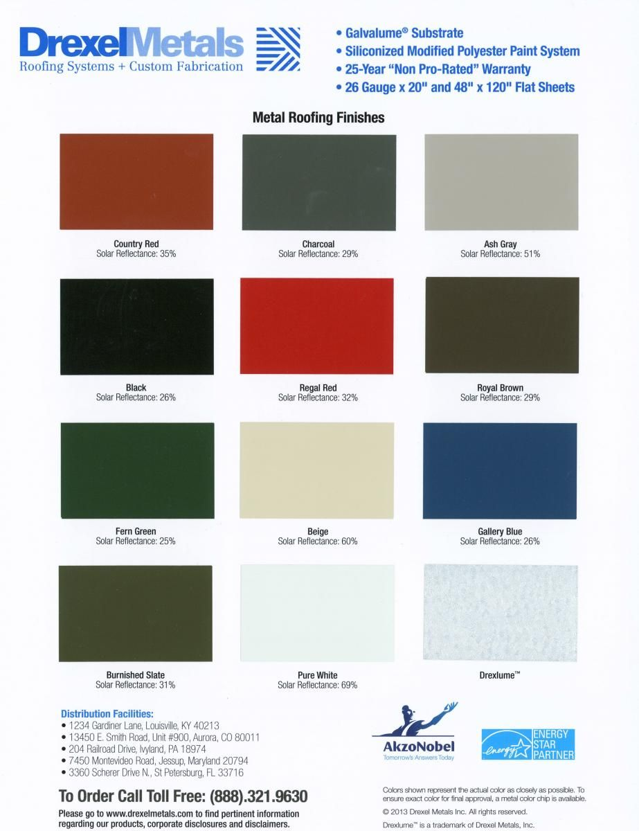 Best Metal Roof Ash Gray Metal Roof Roofing Systems Color Card 640 x 480
