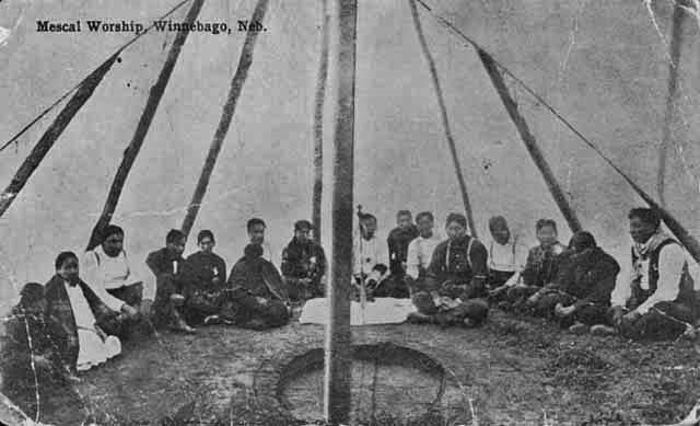 Early 1900s photos of Winnebago Indians gathered in tent for Bible study. & Early 1900s photos of Winnebago Indians gathered in tent for Bible ...