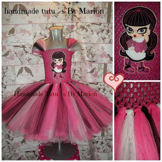 Monster High Inspired tutu girls tutu dress by HandmadetutusMarion