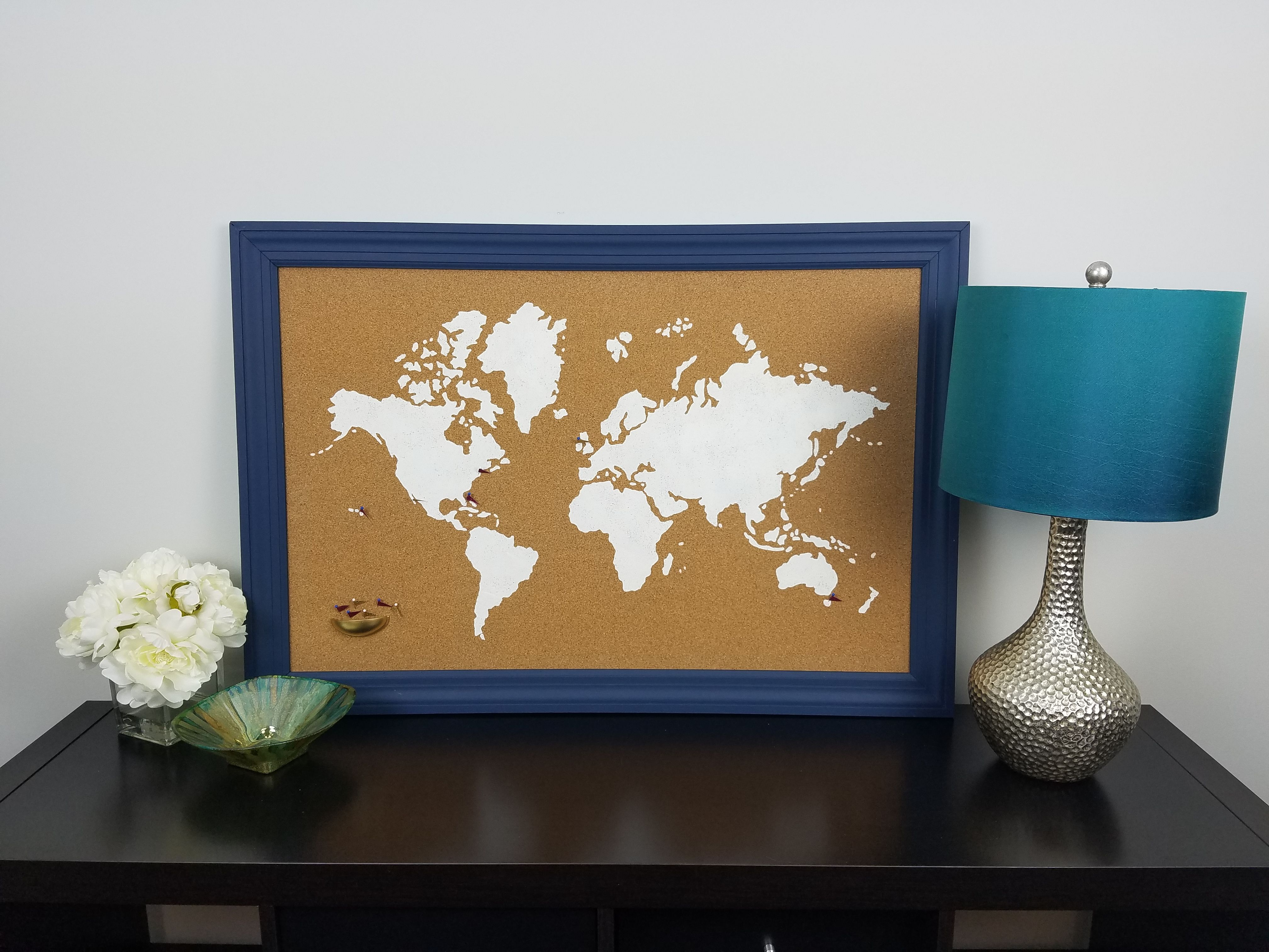 Watch the worlds easiest stencil project using a cork board and our watch the worlds easiest stencil project using a cork board and our world map pattern gumiabroncs Image collections
