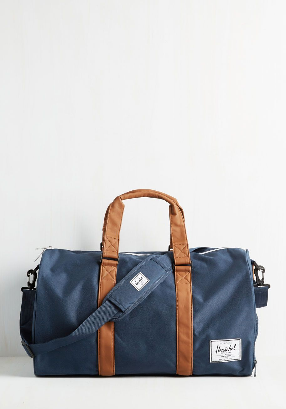 Away With Words Weekend Bag in Navy. With a slide of this navy Herschel  Supply Co.  blue  modcloth 1aee74324b4f1