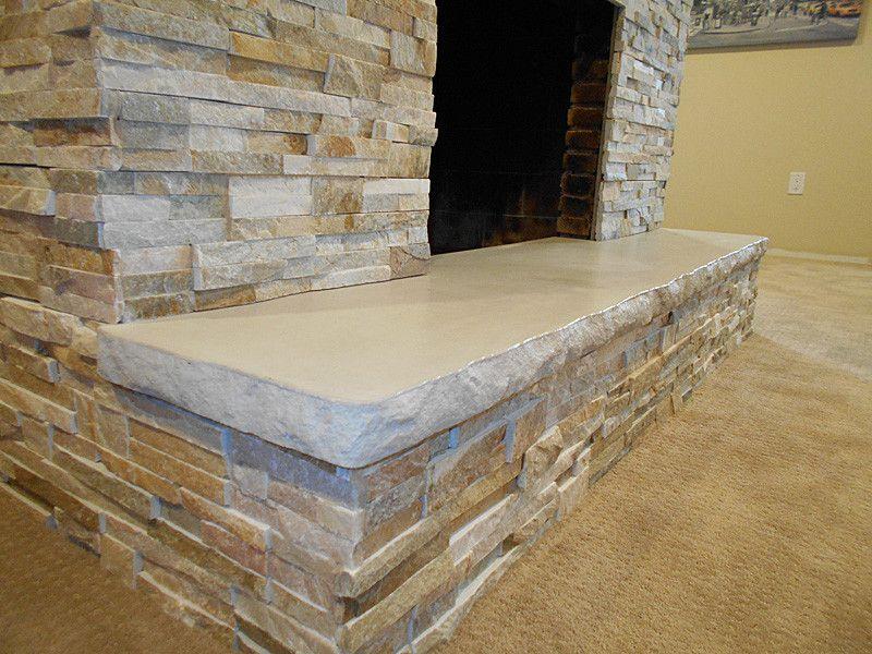 7 Split Edge Concrete Slab Hearth Wood Stove Pinterest