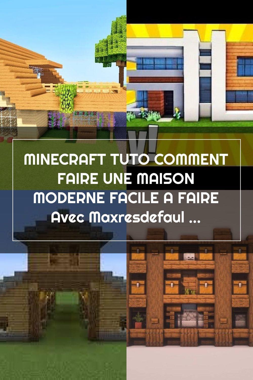 Minecraft Tuto Comment Faire Une Maison Moderne Facile A Faire Avec Maxresd House Styles Mansions Minecraft Buildings