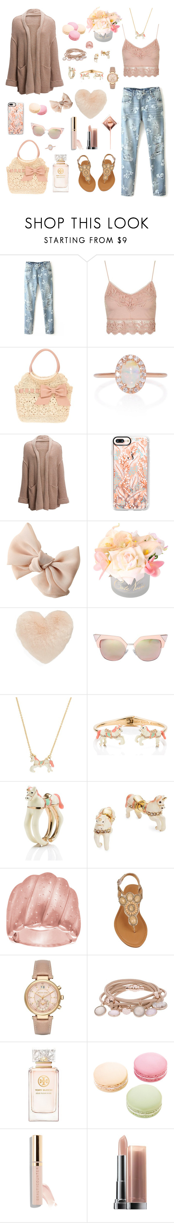 """pιnĸ & denιм"" by booknerd1326 ❤ liked on Polyvore featuring Topshop, RED Valentino, Marlo Laz, Free People, Casetify, Nordstrom, Fendi, Kate Spade, Michael Kors and Marjana von Berlepsch"