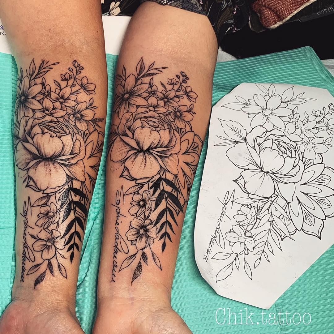 "Photo of Chik.tattoo ⚓️ Steve Savard auf Instagram: ""Schwester Tattoo"""