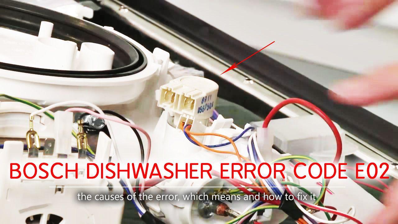 Bosch Dishwasher Error Code E02 As A Rule The E02 Error Appears In The Bosch Dishwasher If The Temperature Sensor Thermi Error Code Bosch Dishwashers Bosch
