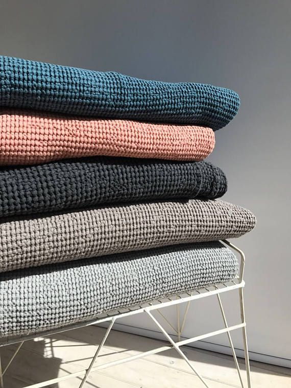 Grau Decke Bettdecke Dicke Leinen Baumwolle Tagesbett Decke