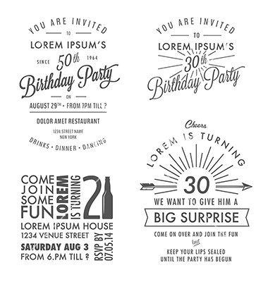 Adult birthday invitation vintage design elements vector by adult birthday invitation vintage design elements vector by ivanbaranov on vectorstock stopboris Image collections