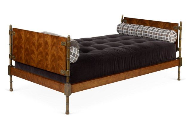 """Restivo 44"""" Tufted Daybed, Black"""