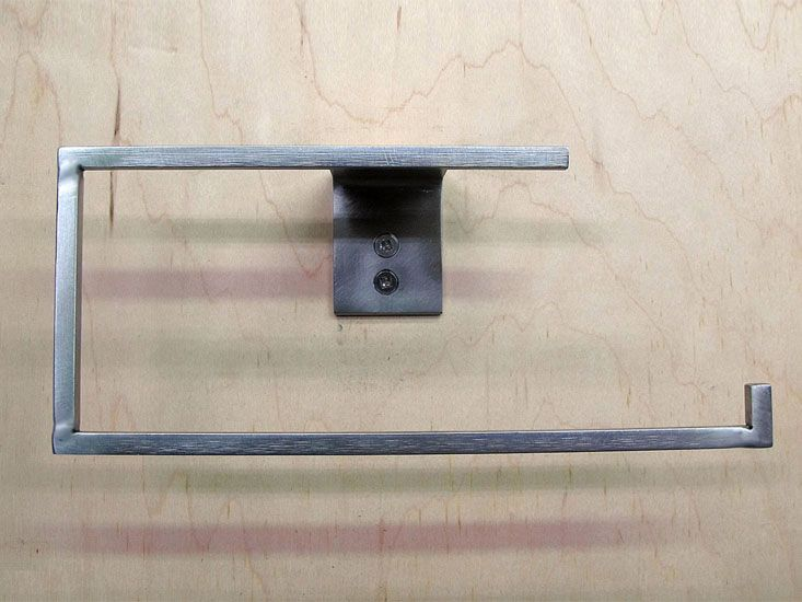 A C-shape Kitchen or Bath Towel Holder in blackened or stainless ...