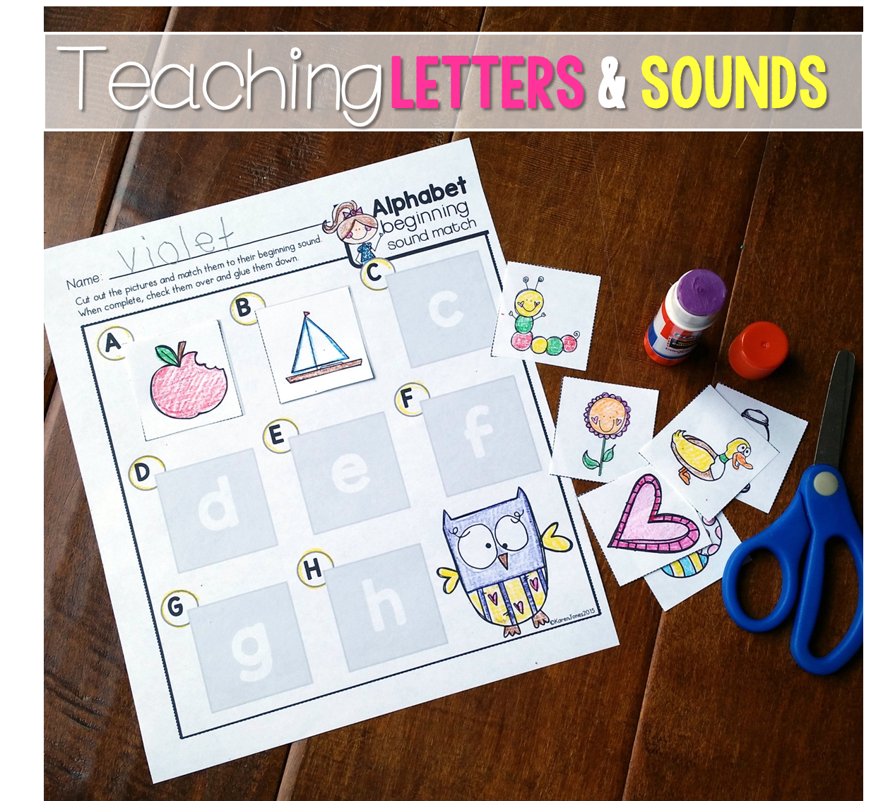 Alphabet Letters And Sounds Bundle
